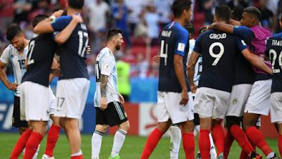 MUNDIAL 2018: FRANCIA 4 ARGENTINA 3