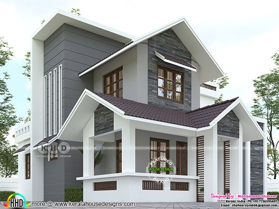 Modern home front design 1600 square feet