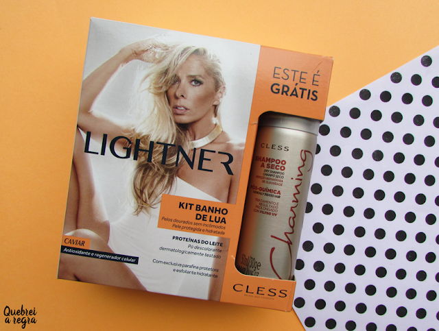 Clareando os pelos em casa com o kit Banho de Lua Caviar Lightner