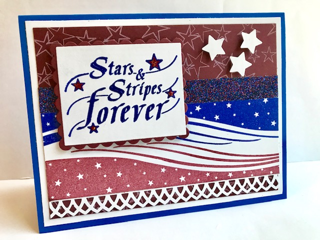 American Made Stamped By Rubber Stamp By DRS Designs
