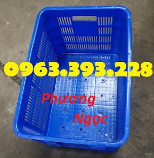 Sóng nhựa rỗng HS012, sọt nhựa rỗng đáy đặc, thùng nhựa đáy đặc có lỗ