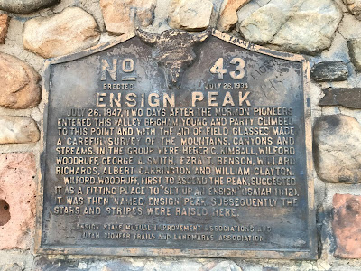 Utah Historical Marker at Ensign Peak