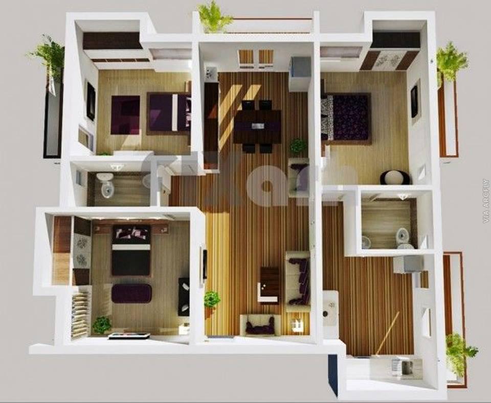 50 Denah Rumah Minimalis 3d 3 Kamar Tidur 2 Lantai Dan 2 Kamar Tidur Desainrumahnya Com