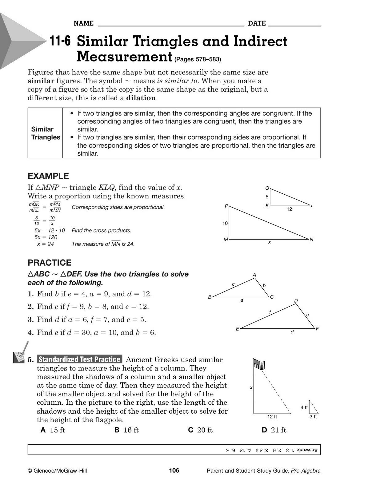 Study Guide Glencoe Images
