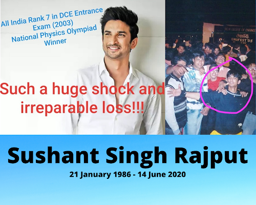 Sushant Singh Rajput Rare College Dance Photo