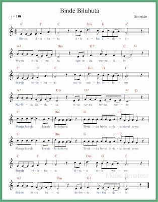 not balok lagu binde biluhuta