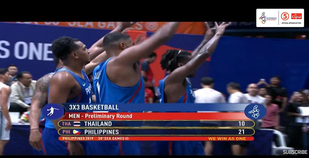 Gilas Pilipinas def. Thailand, 21-10 (VIDEO) Men's 3x3 | SEA Games 2019
