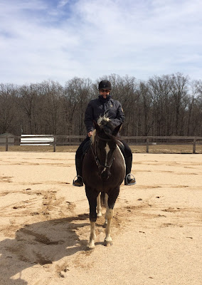 MJ riding her horse Dallas last winter.