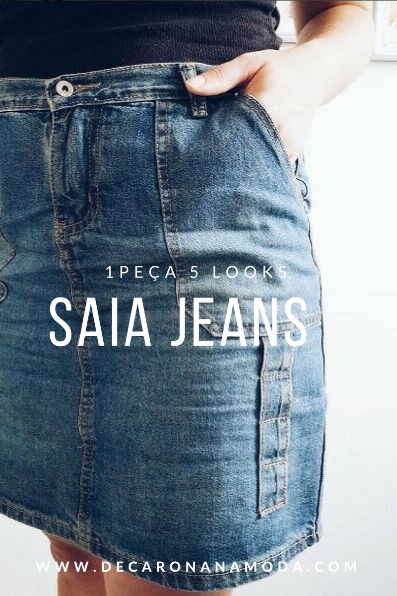 Montando 5 looks estilosos com 1 saia jeans