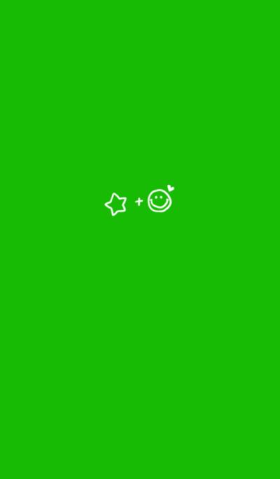 シンプル。星+にこ+ハート