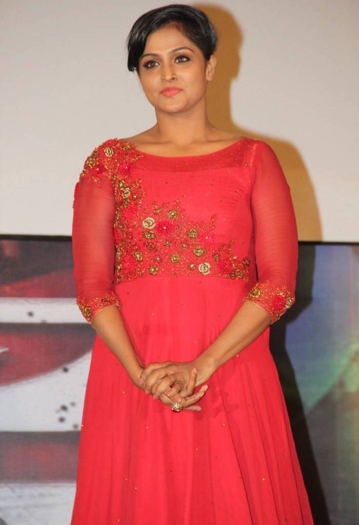 Malayalam Actress Remya Nambeesan Hot In Red Dress At Movie Audio Launch