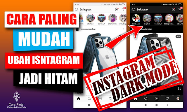Begini ! Cara Dark Mode Instagram Paling Mudah