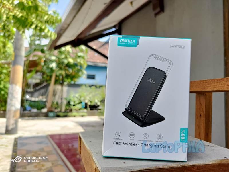 Review Choetech Fast Wireless Charging Stand T555-S, Cepat dan Berkualitas