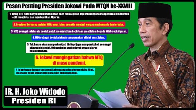 Infografis MTQN ke-XXVIII: Pesan Penting Presiden Jokowi