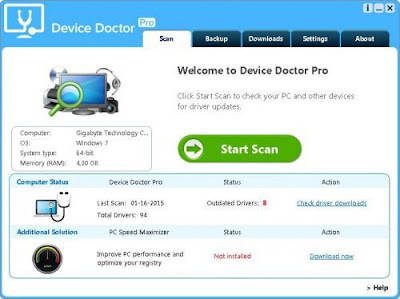 Screenshot Device Doctor 5.0.184 Full Version