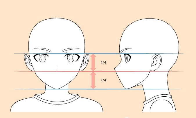 Menggambar hidung anak anime