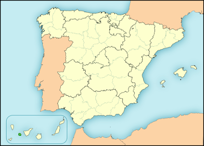 Gomeran whistle silbo in Spain map