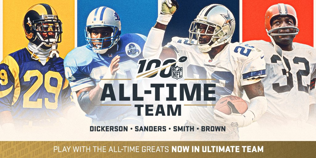 Madden 20 Nfl 100 Players Program Including Barry Sanders And Emmitt Smith