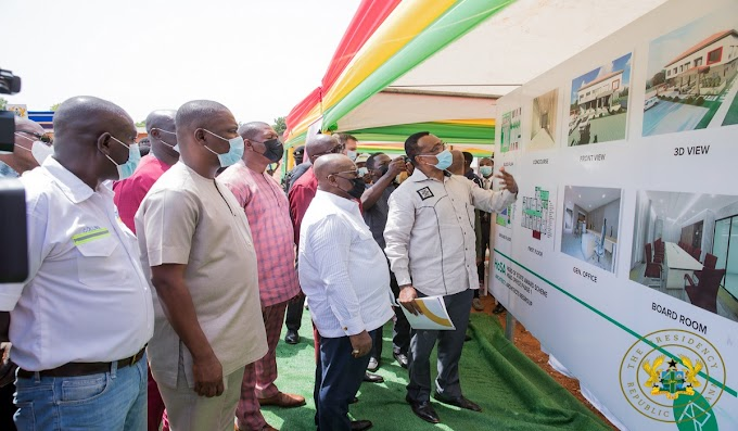 "President Akufo-Addo Cuts Sod For Gh¢5 Million ""Ghana Award House"""