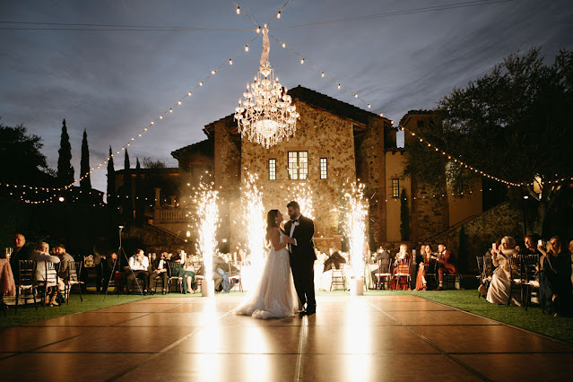 first dance with lighting and firework