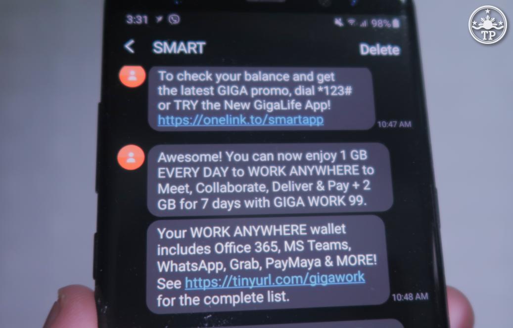 Smart GIGA SMS Promo