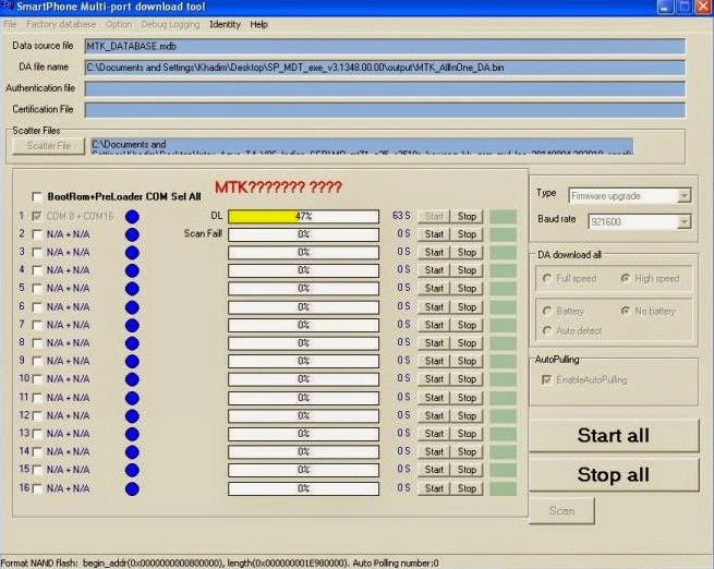 Intex Aqua T4 MT6571 Flash done in Flash tool with Firmware or Tools