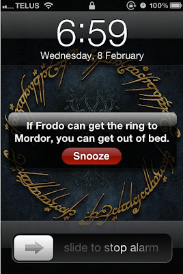 Funny Hobbit Lord of the Rings Joke Alarm