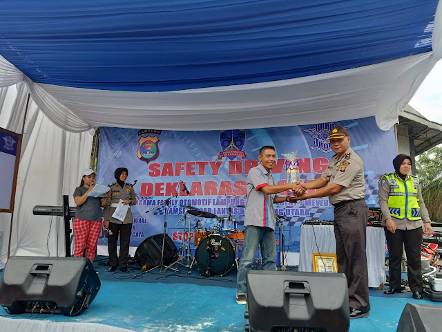 Polres Lampura Gelar Safety Driving