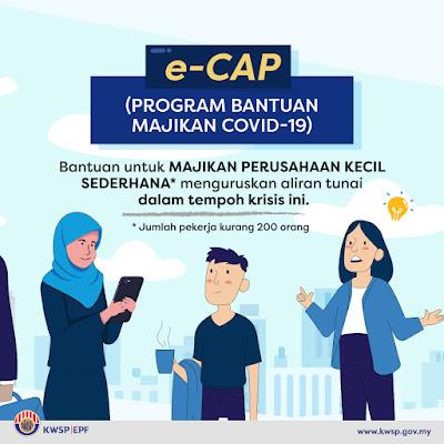 Semakan Status Bantuan Majikan COVID-19 e-CAP KWSP (Tarikh Bayaran)