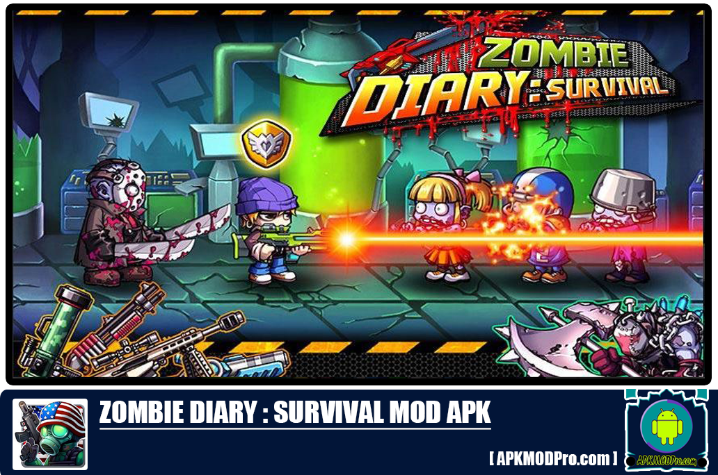 Zombie Diary MOD APK 1.3.0 [Unlimited Money, Coins]