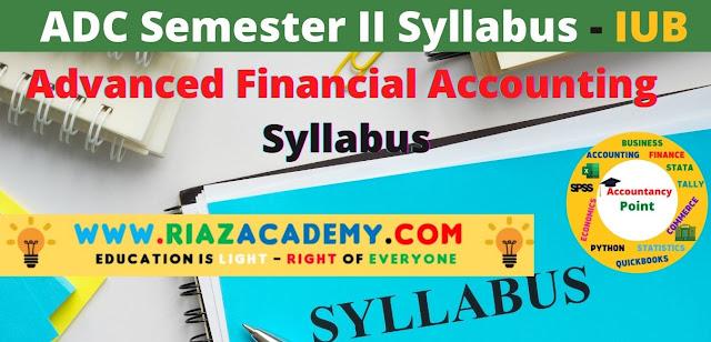 ADC-II  Advanced Financial Accounting  Syllabus