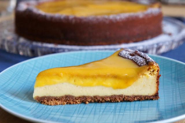 REZEPT: glutenfreier Mango-Käsekuchen