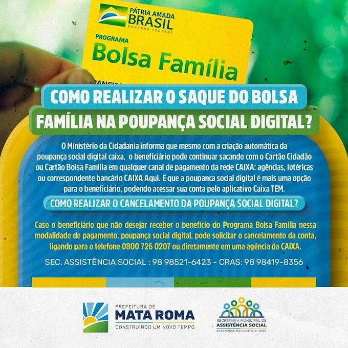 Saiba como realizar o saque do bolsa família na poupança Social Digital.