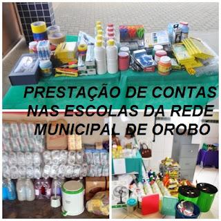 PRESTAÇÃO DE CONTAS NAS ESCOLAS DA REDE MUNICIPAL DE OROBÓ PE