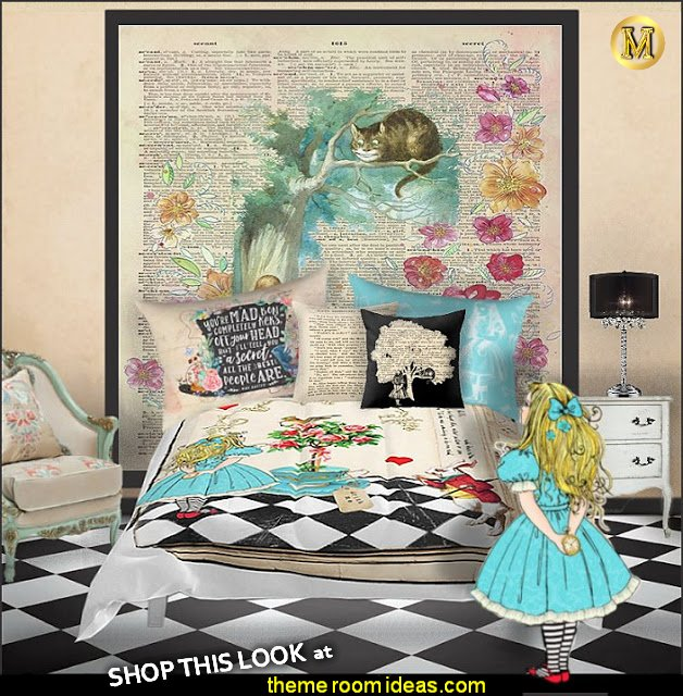 Vintage Floral Alice In Wonderland bedroom decorating  alice in wonderland bedroom furniture