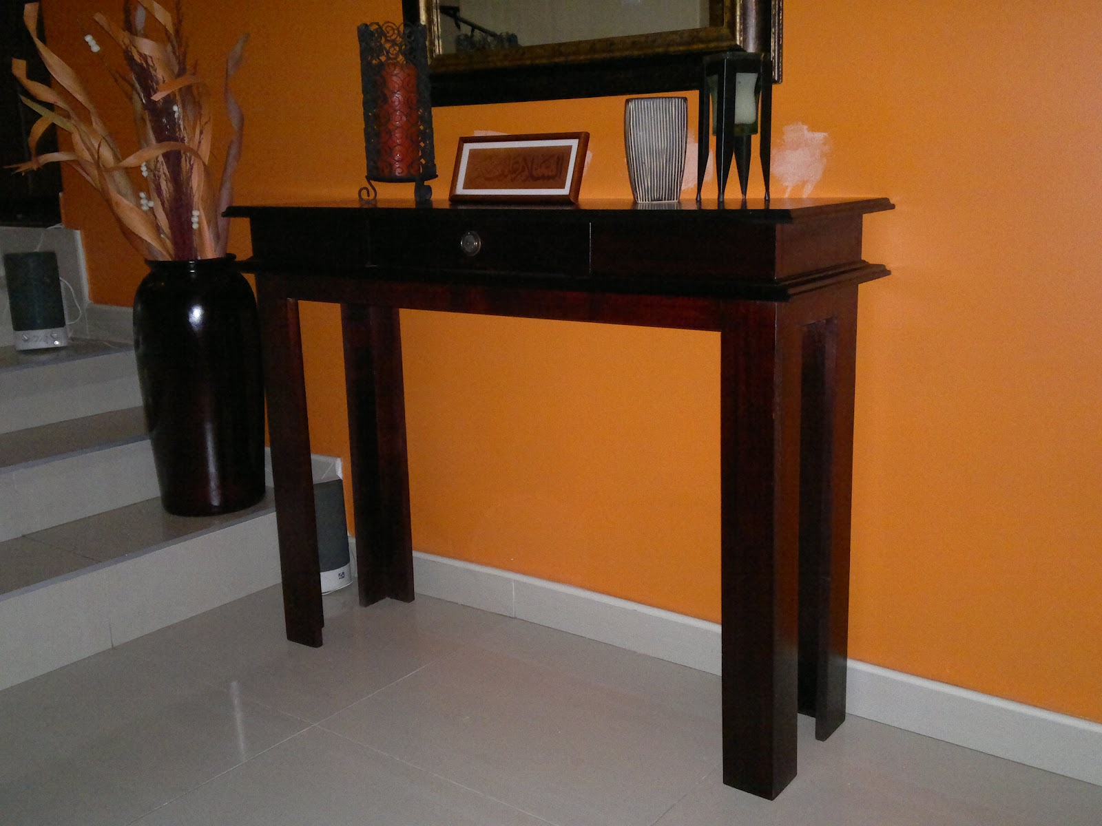 Entrance Table Custom Carpentry Entrance Hall Table With Drawer