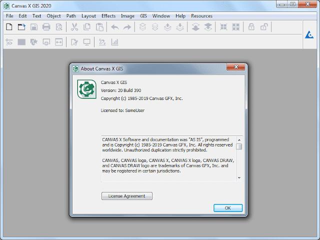 Screenshot ACD Systems Canvas X GIS 2020 v20.0 Build 390 Full Version