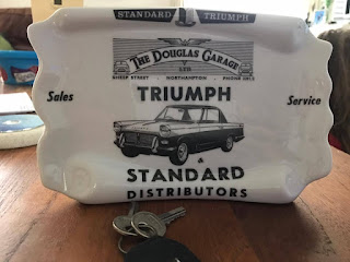 Douglas Garage branded ash tray