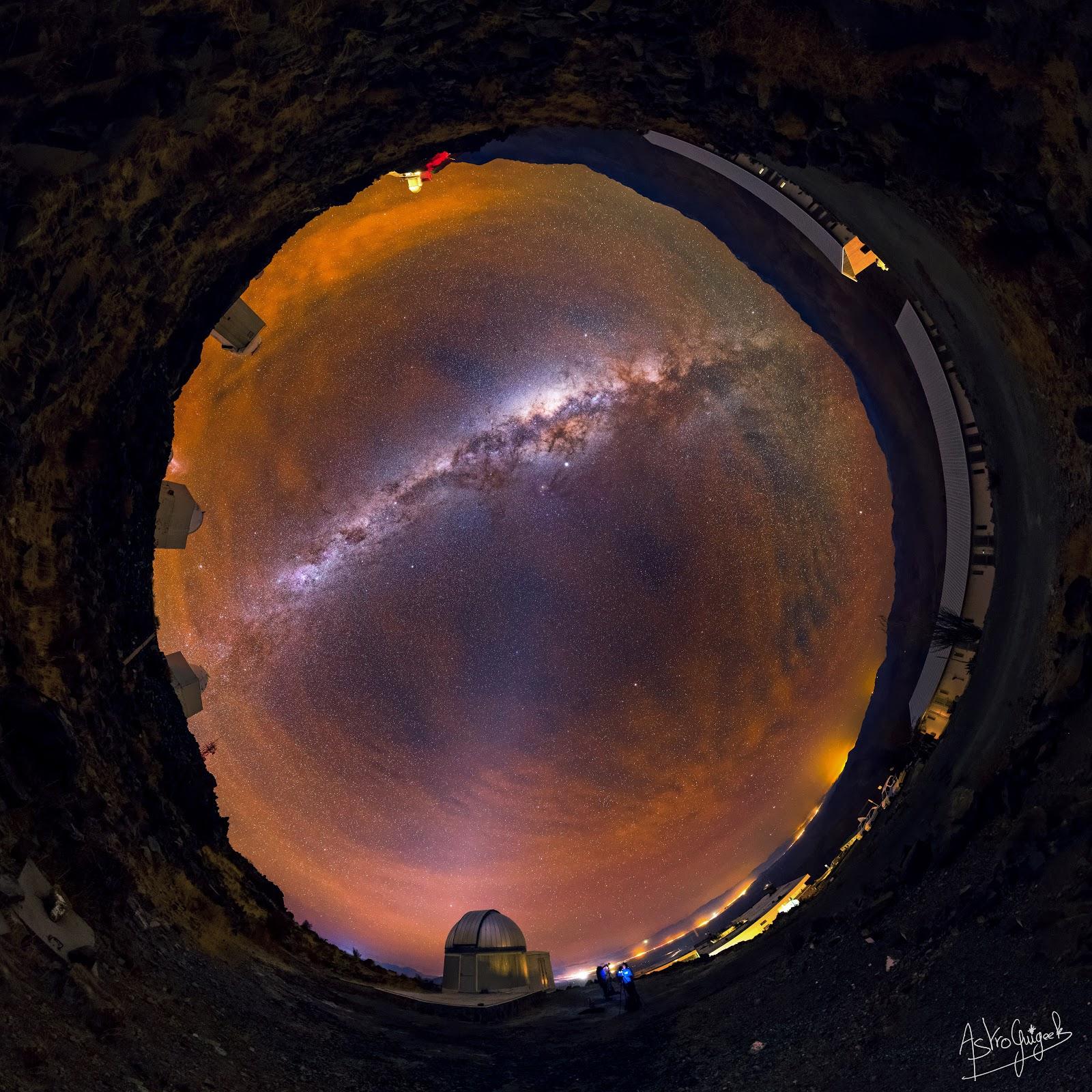 The amazing night-sky of the Atacama desert in 360° (Chile)