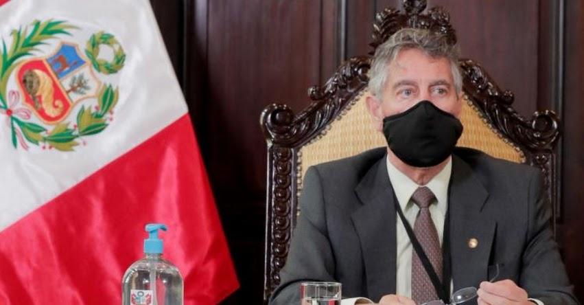 Presidente Sagasti dará mensaje a la Nación hoy domingo 31 de enero