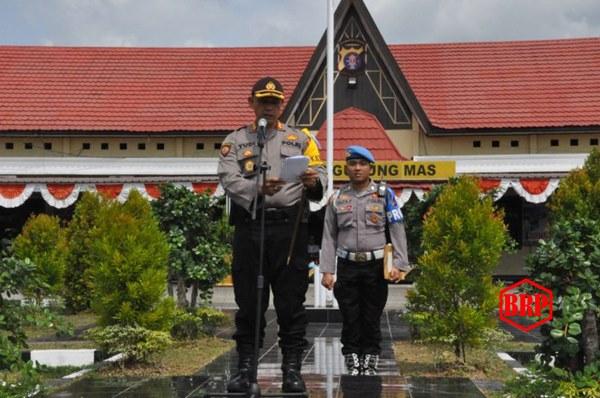 Polres Gumas Laksanakan Apel Gelar Pasukan Operasi Patuh Telabang 2019