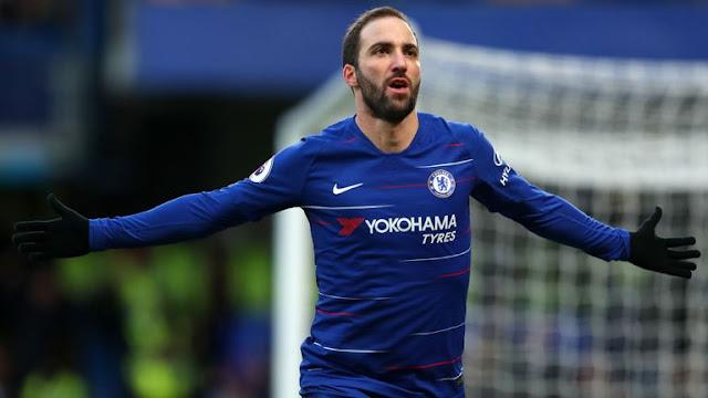 Gonzalo Higuain Chelsea Vs Huddersfield Town