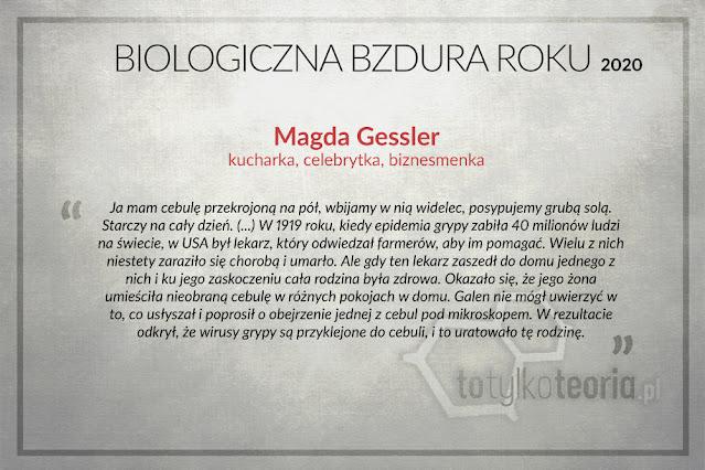 Magda Gessler Biologiczna Bzdura Roku