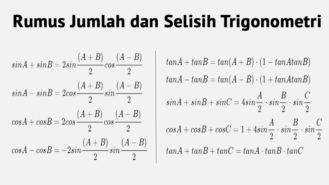 Rumus Identitas Trigonometri Contoh Soal Dan Pembuktian Mudah Dan Lengkap