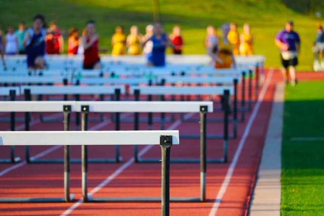 CC0 licensed Photo by Alyssa Ledesma on Unsplash of a hurdle race