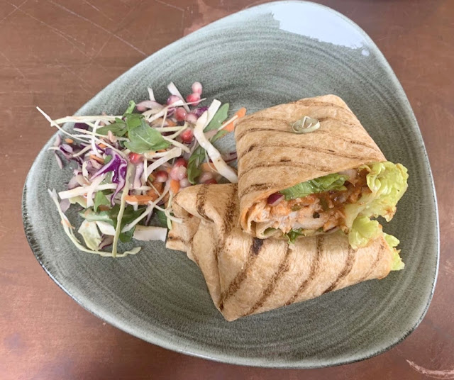 Peri-Peri Chicken wrap and side salad