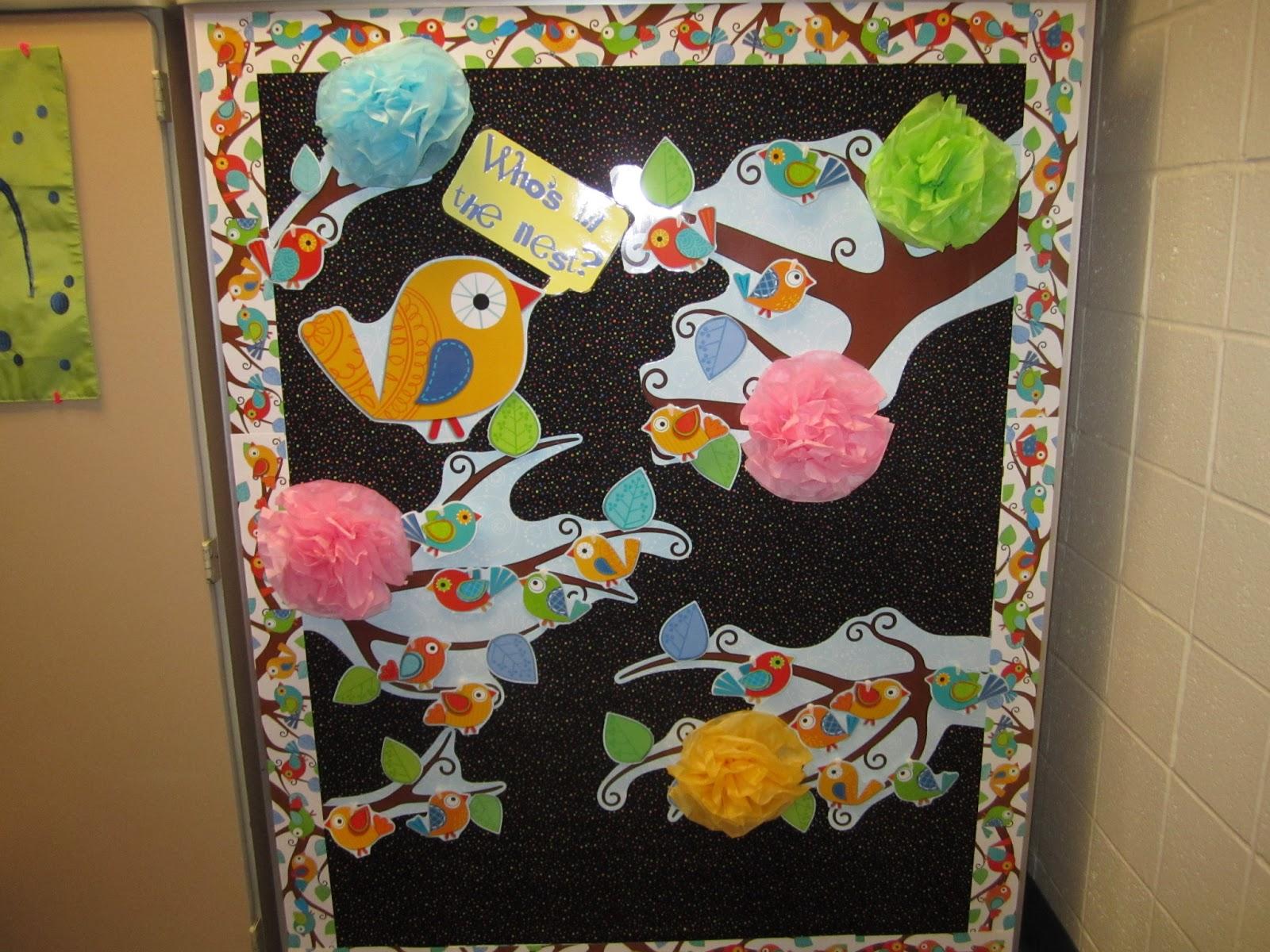 Krissy S Kindergarten Boho Birds Bulletin Board Set
