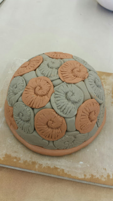 Nautilus / shell clay / pottery bowl by Lily L.