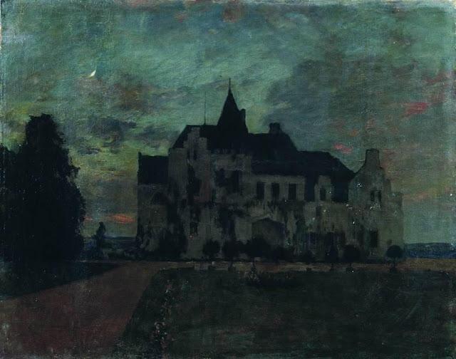 Исаак Ильич Левитан - Сумерки. Замок. 1898