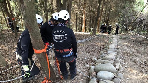 彰化消防局山域搜索救援訓練 提升消防員搜救援量能